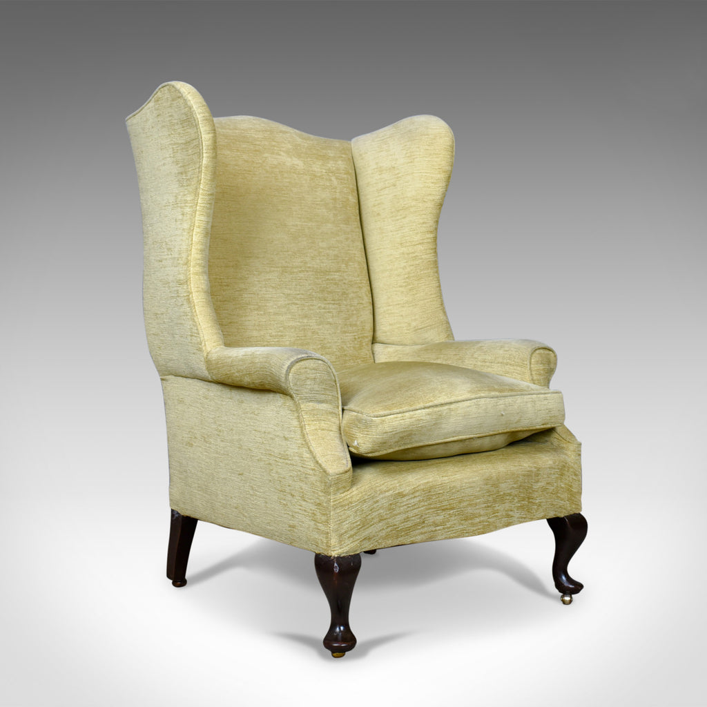 Antique Wing Back Armchair, Victorian Easy Chair, Late 19th Century, Circa 1900