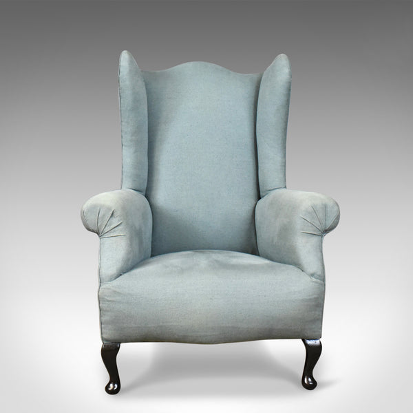 Antique Wing Back Chair, English, Edwardian, Armchair ...