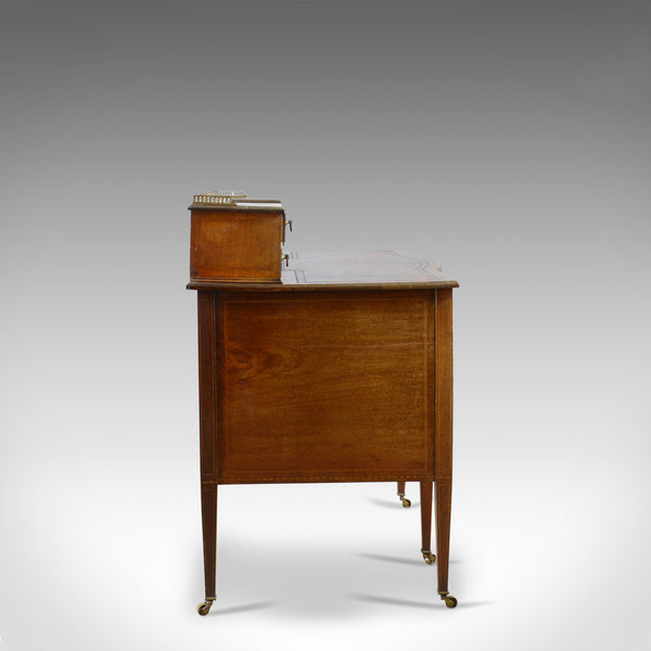 Antique Writing Desk, English, Edwardian, Mahogany, Knee-Hole, Circa 1910 - London Fine Antiques