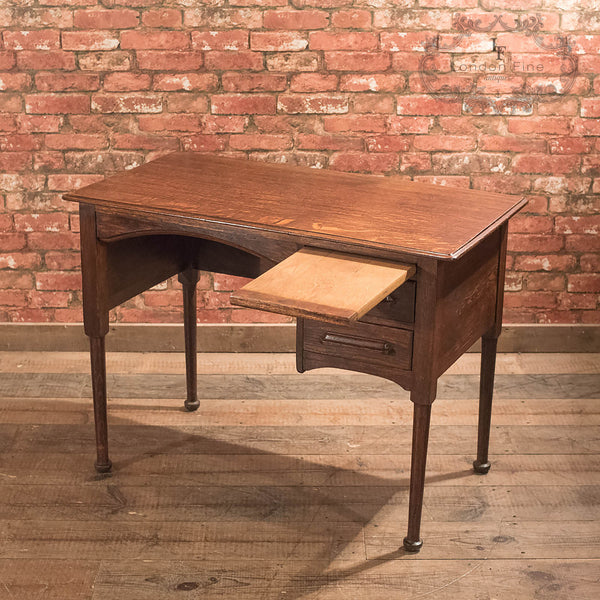 Antique Writing Table, Edwardian Oak Desk - London Fine Antiques