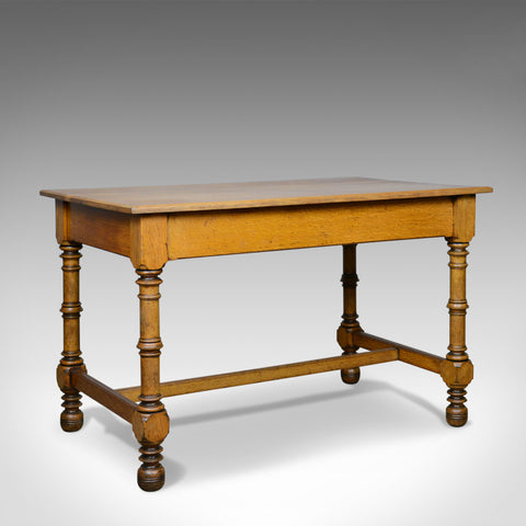 Antique Writing Table, English, Victorian, Side, Oak, Late C19th, Circa 1870 - London Fine Antiques