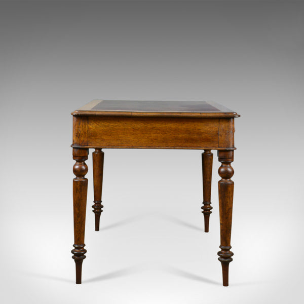 Antique Writing Table, Victorian Library Desk, English, Oak, C19th, Circa 1870 - London Fine Antiques