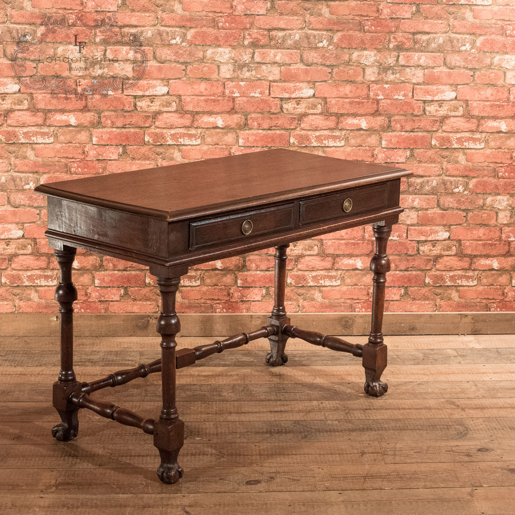 Victorian Oak Writing Table, c.1870 - London Fine Antiques - 1