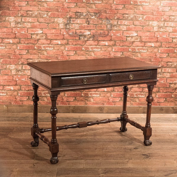 Victorian Oak Writing Table, c.1870 - London Fine Antiques - 3