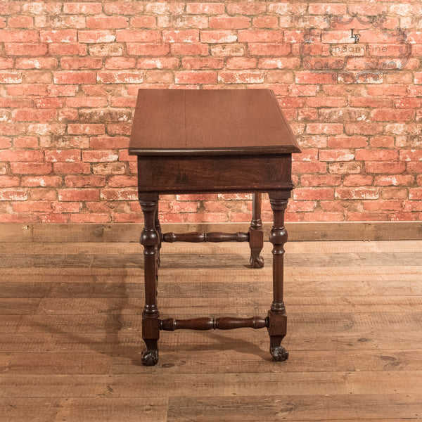 Victorian Oak Writing Table, c.1870 - London Fine Antiques - 4