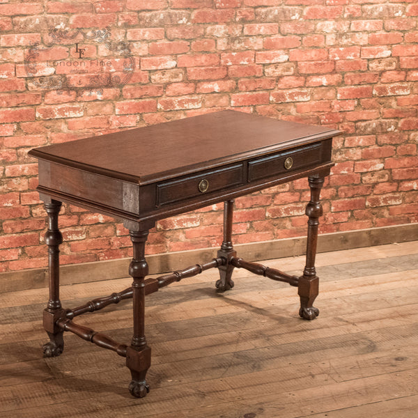 Victorian Oak Writing Table, c.1870 - London Fine Antiques - 5
