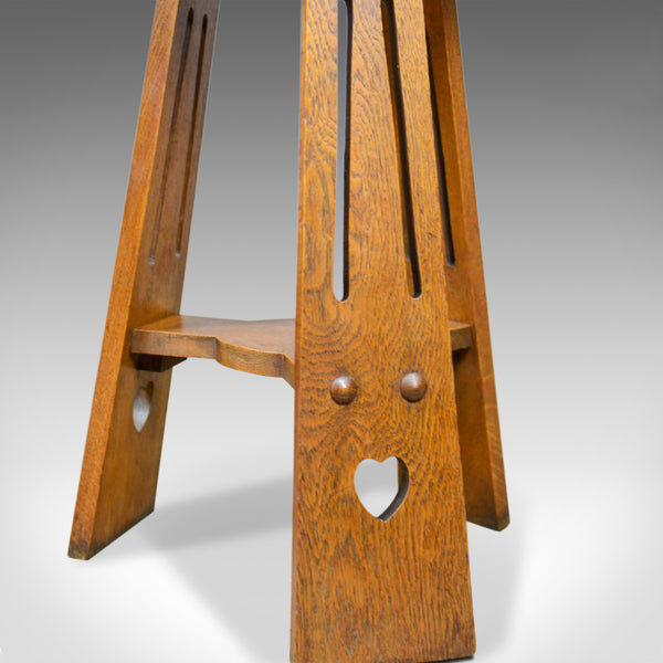 Arts and Crafts Side Table, English, Antique, Liberty-Esque, Oak, Tripod  c.1900 - London Fine Antiques