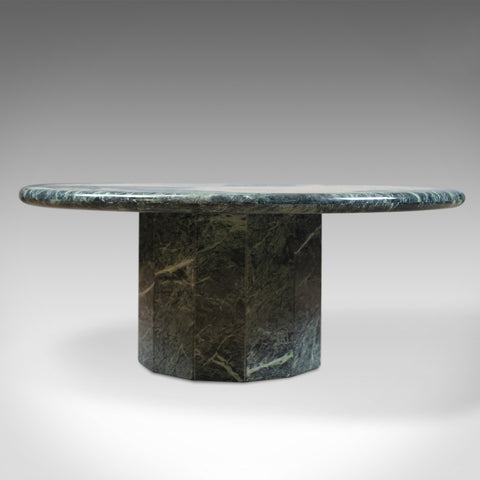 Belgian Marble Coffee Table, Low, Circular, Late 20th Century