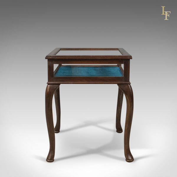 Bijouterie Glazed Display Table, Mahogany, Late C20th Specimen Cabinet - London Fine Antiques