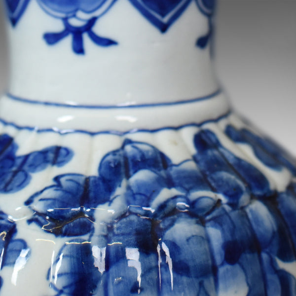 Blue And White Chinese Flower Vase, Ceramic, China Pottery Mid/Late C20th - London Fine Antiques