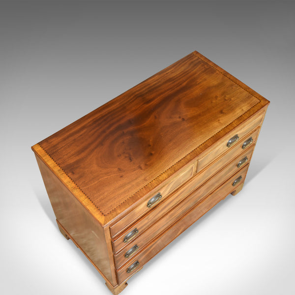 Broad Chest of Drawers, English, Georgian, Revival, Mahogany, 20th Century