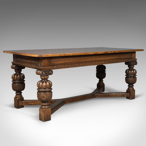 17th Century Revival Refectory Table, Country Kitchen Dining, 20th Century - London Fine Antiques
