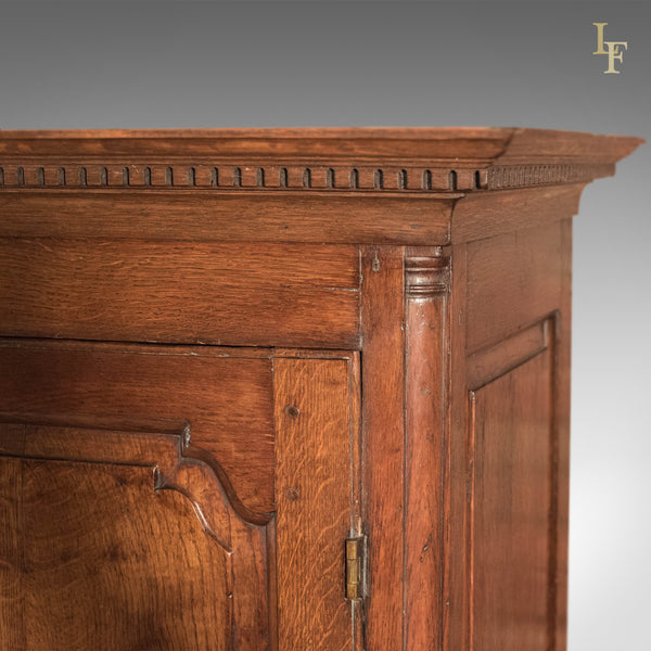 Antique Wardrobe, Georgian Press Cupboard, English Oak Cabinet, Furniture C1800 - London Fine Antiques