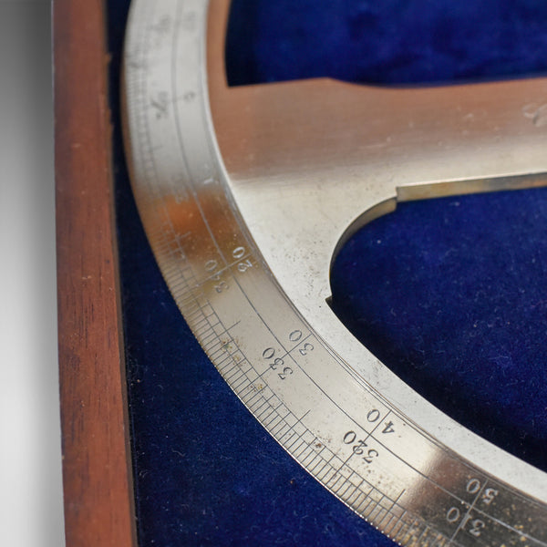 Cased Antique Protractor 360 degree Scientific Instrument Navigation Circa 1900 - London Fine Antiques