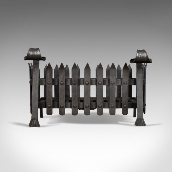 Cast Iron Fire Basket in Georgian taste, Free Standing Fireplace Grate - London Fine Antiques
