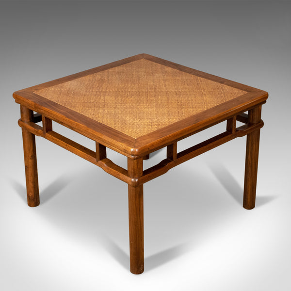 Chinese Elm and Rattan Coffee Table, Side, Lamp, Late 20th Century - London Fine Antiques