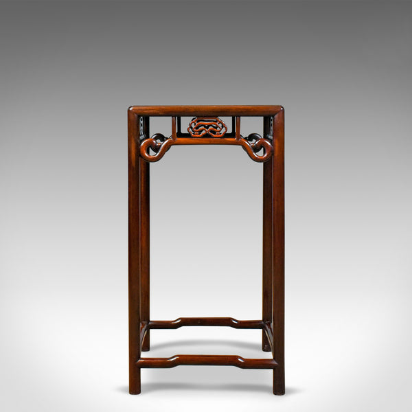 Chinese Pedestal Table, Traditional, Rosewood, Side, Mid 20th Century