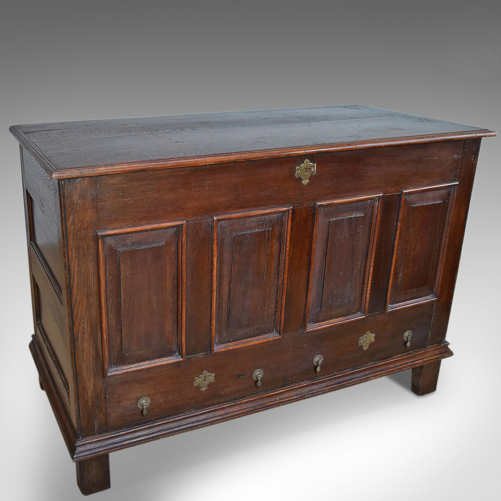 Antique Mule Chest, English, Oak, Trunk, Georgian, Circa 1800 - London Fine Antiques