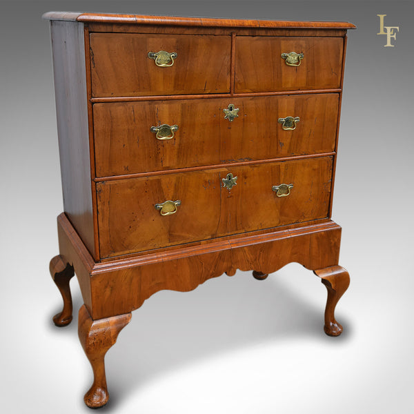 Antique Chest of Drawers on Stand, English, Walnut, Early Georgian c.1720 - London Fine Antiques