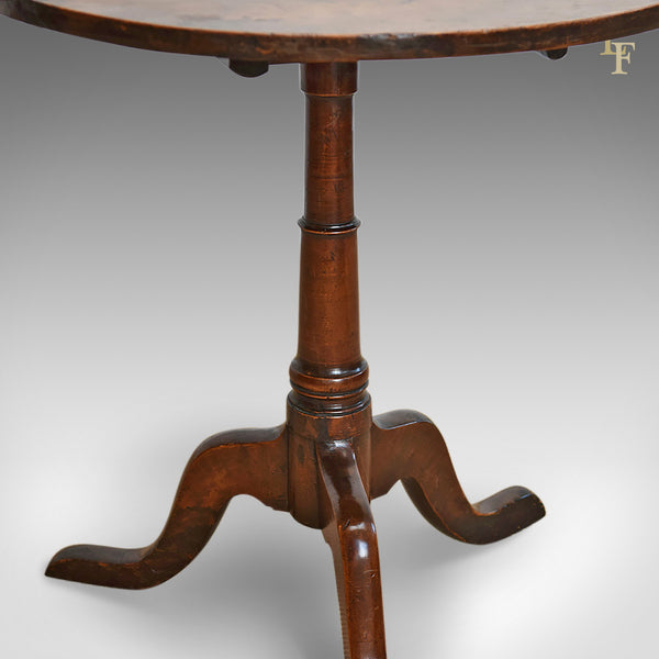 Antique Tilt Top Table, English, Georgian, Cherry, Side Circa 1780 - London Fine Antiques