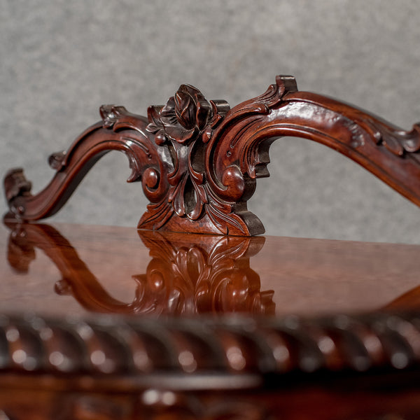 Demi-Lune Mahogany Console Table, Late 20th Century in the Regency Form - London Fine Antiques