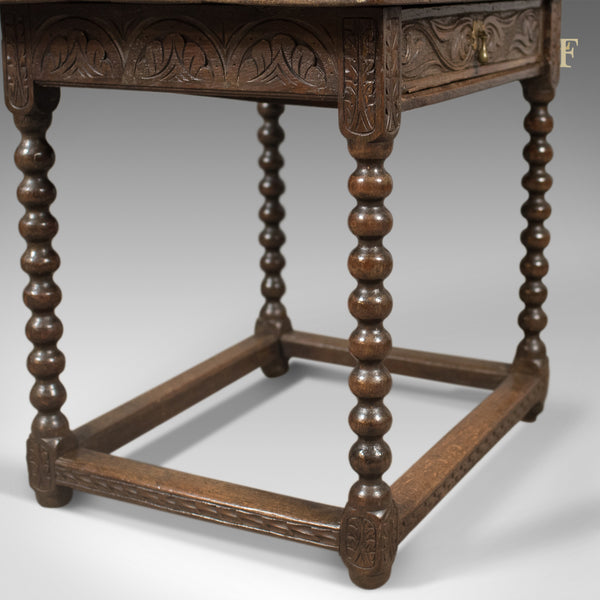 Early Georgian Antique Side Table, English Oak, c.1750 - London Fine Antiques