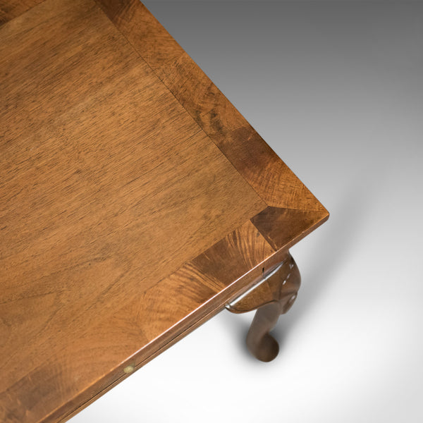Edwardian Antique Side Table with Drawers, English, Walnut, Circa 1910