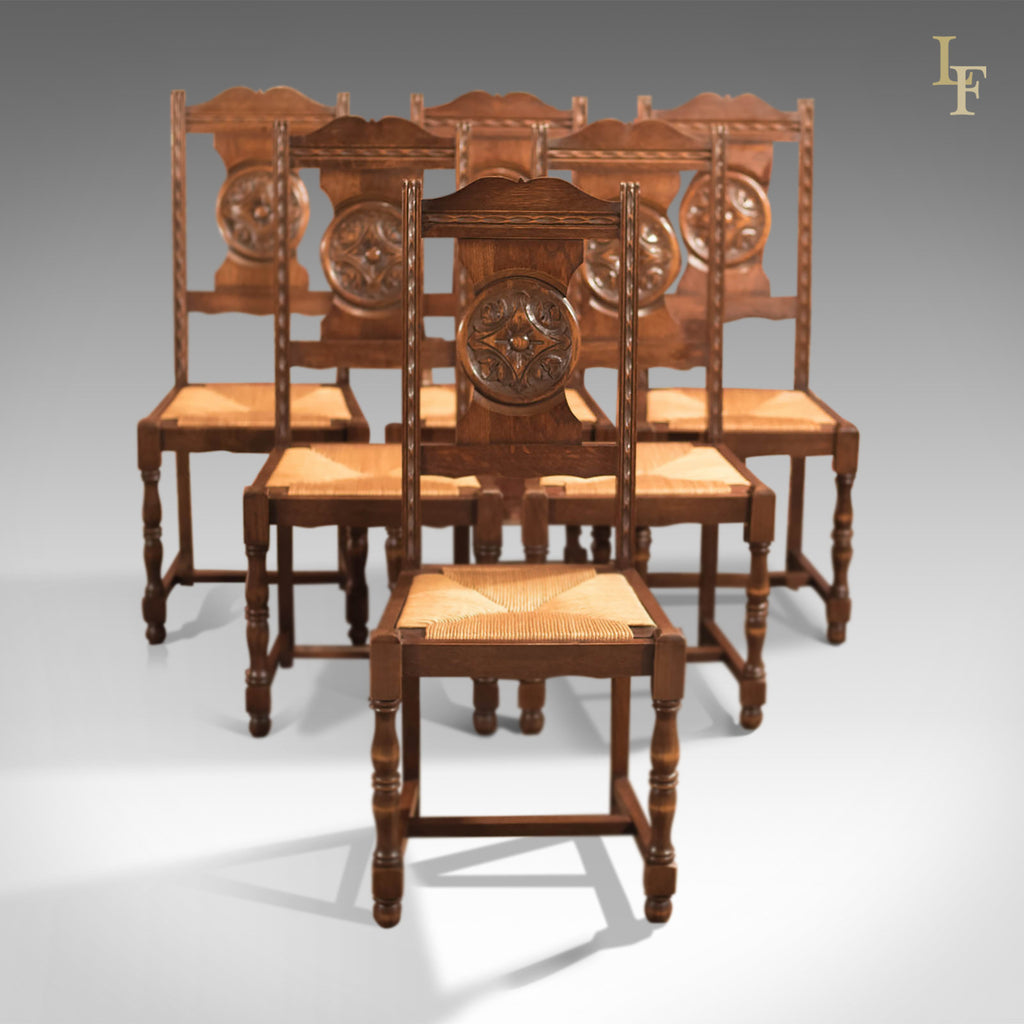 Edwardian Set of 6 Antique Dining Chairs, c.1910 - London Fine Antiques