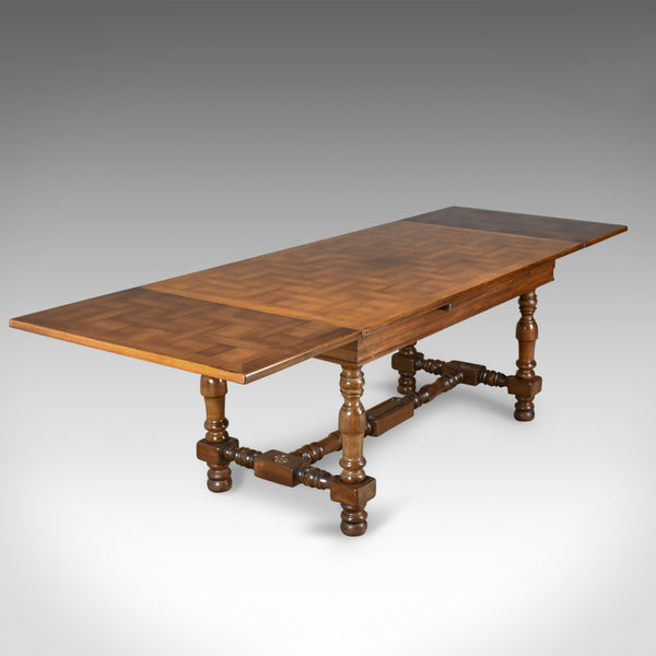 Extending Dining Table, 8 - 10 Seater, Mahogany, French Circa 1920 - London Fine Antiques