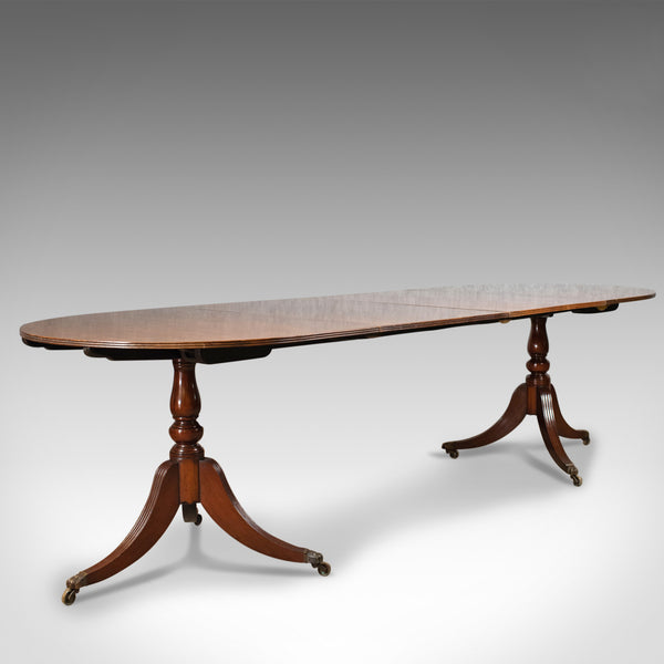Extending Dining Table, Regency Revival, English, Mahogany, Seats 10, Late C20th