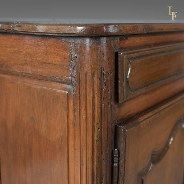French Antique Sideboard Cabinet, 18th Century Walnut Cupboard - London Fine Antiques