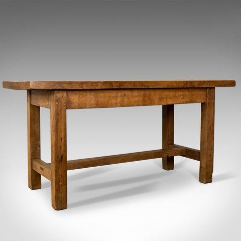 French Antique Charcuterie Table, 19th Century, Oak, Country Kitchen Circa 1890