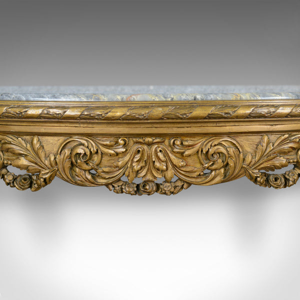 French Antique Console Table, Giltwood, Marble, Classical Revival, Pier, C.1900 - London Fine Antiques