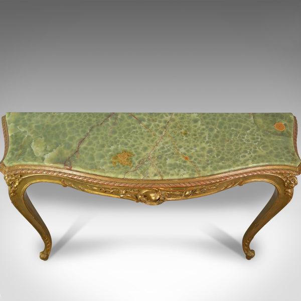 French Antique Console Table, Giltwood and Onyx, Classical Revival, Circa 1900 - London Fine Antiques