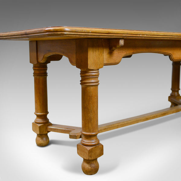 French Antique Dining Table, Oak, Seating up to Six, Early C20th, Circa 1920 - London Fine Antiques