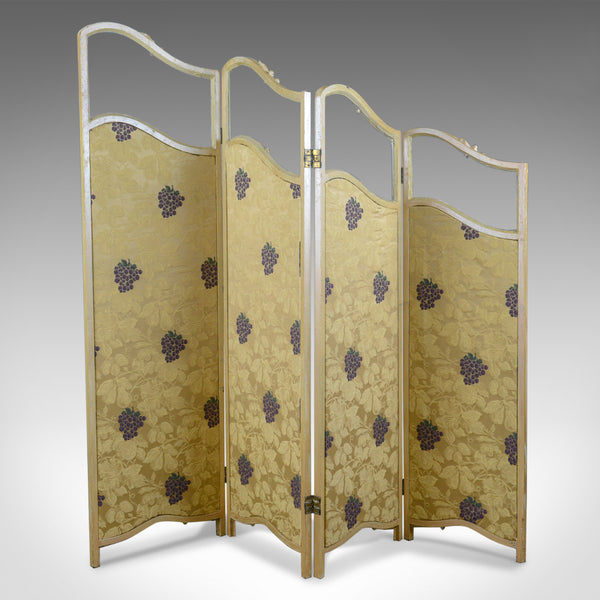 French Antique Folding Screen, Giltwood, Needlepoint, Room Divider, Circa 1890 - London Fine Antiques