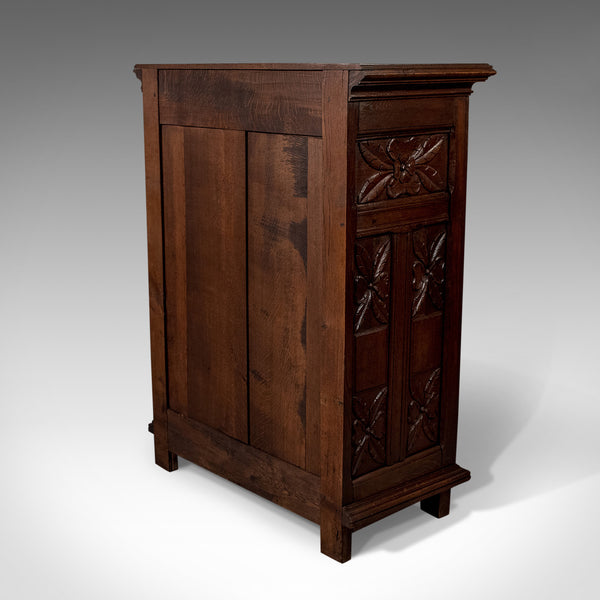 French Antique Side Cabinet, 19th Century Oak Cupboard, Circa 1900 - London Fine Antiques