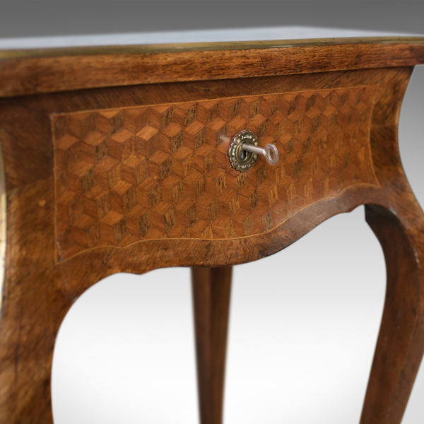French Antique Vanity Table, Jewellery Box, Kingwood, 19th Century, Circa 1880
