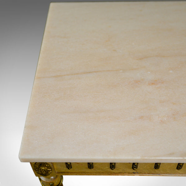 French Marble Coffee Table, Classical Taste, Hardwood, Stone, Late 20th Century - London Fine Antiques