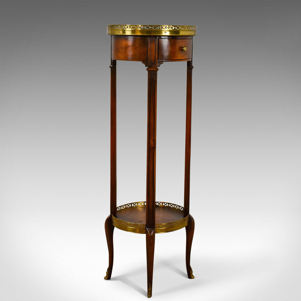 French Plant Stand in the 19th Century Taste, Mahogany Brass Ormolu Late C20th