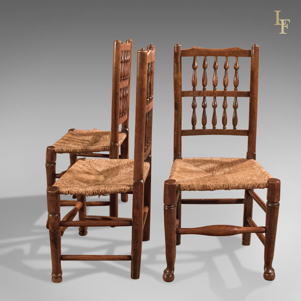 Harlequin Set of Seven Antique Spindle Back Dining Chairs ...