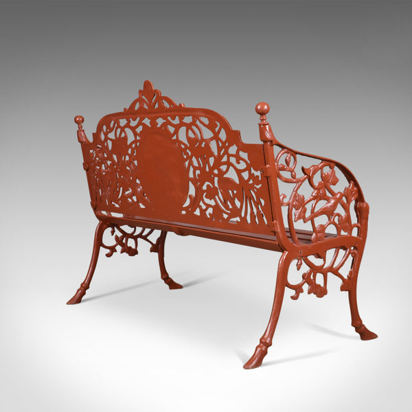 Heavy, Vintage Garden Bench, Cast Iron, In Coalbrookdale Manner, English, C20th - London Fine Antiques