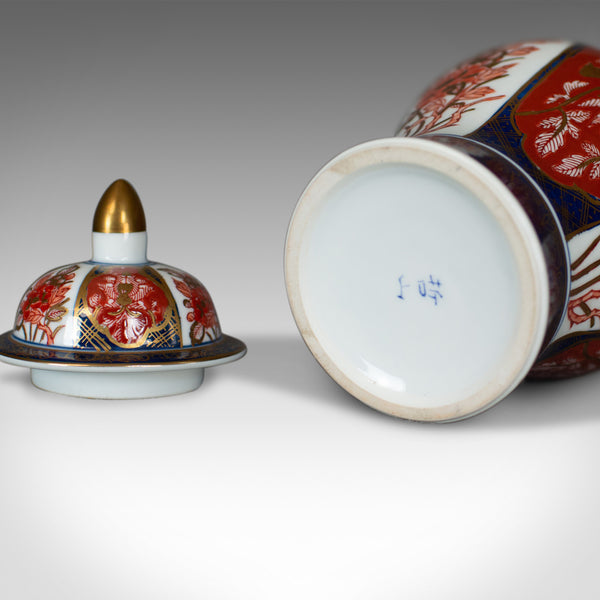 Imari Baluster Spice Jar, Porcelain Vase with Lid, Late 20th Century - London Fine Antiques