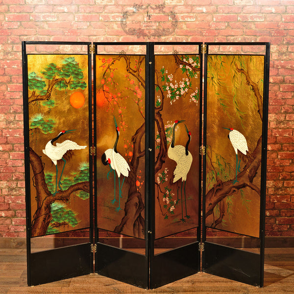 20th Century Japanese Decorative Screen London Fine Antiques