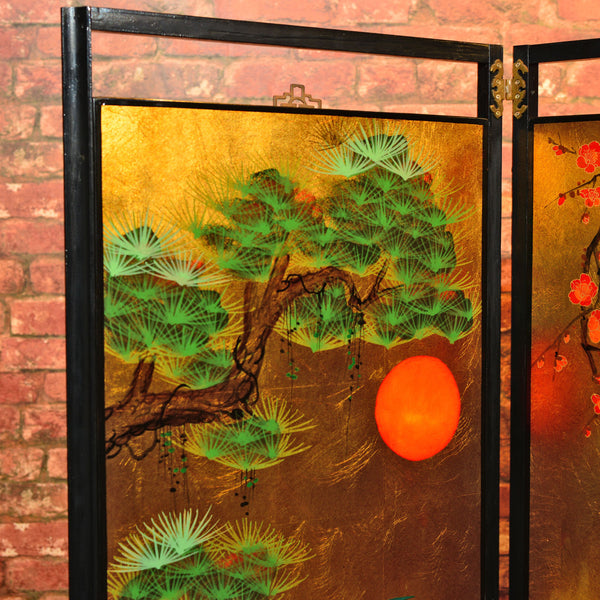 20th Century Japanese Decorative Screen - London Fine Antiques