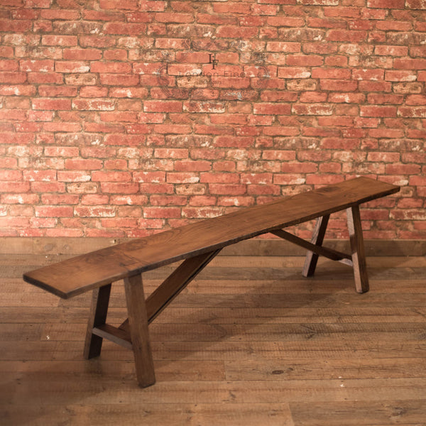 Late Victorian Country Kitchen Bench - London Fine Antiques