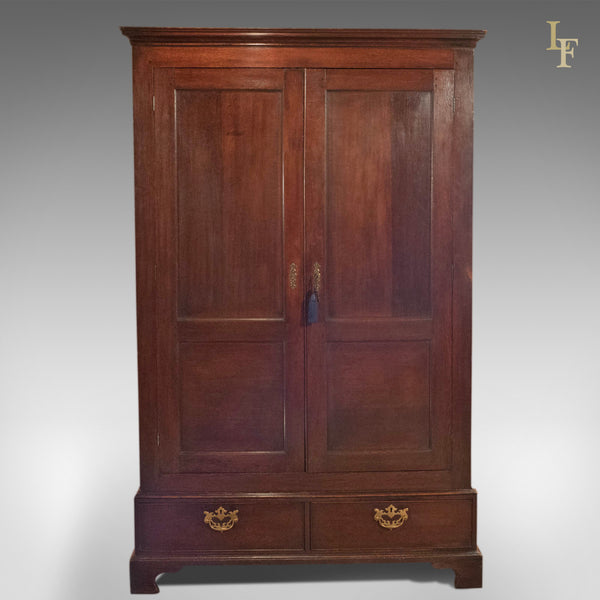 Georgian Antique Panelled Wardrobe, c.1800 - London Fine Antiques