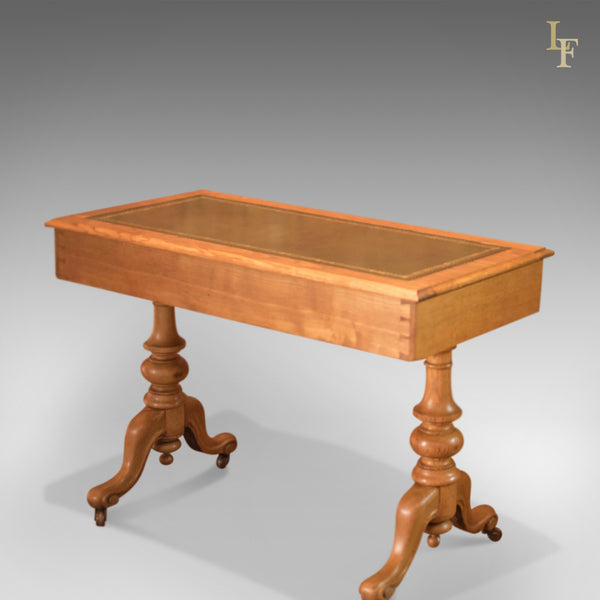 Victorian Ash Writing Table, c.1870 - London Fine Antiques