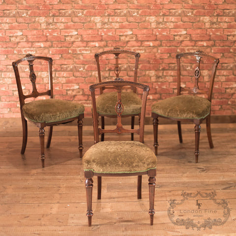Aesthetic Period Set of Four Dining Chairs, c.1890 - London Fine Antiques