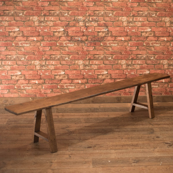 Late Victorian Country Kitchen Bench (2) - London Fine Antiques